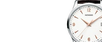 High-efficiency Movado Circa Three-Hander Stainless Steel Leather Strap Copy Watch