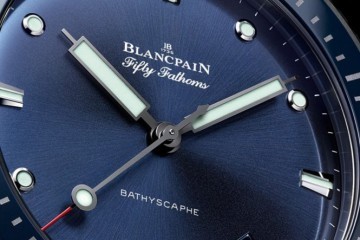 The Blue Blancpain Fifty Fathoms Bathyscaphe Self-winding Mechanical Fake Watch Ref.5000-0240-O52A