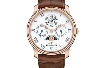 Brilliant Blancpain Villeret Perpetual Calendar Power Reserve Watch 6659-3631-55B