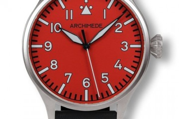 Best Quality Titanium Archimede Pilot 42 Red Automatic Watch Replica
