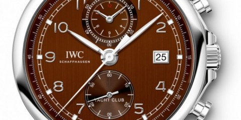 IWC Portugieser Yacht Club Chronograph brown dial watch replica
