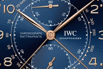 Blue Dial IWC Portugieser Double Chronograph watch replica