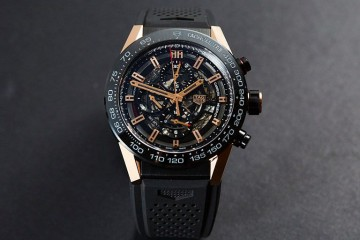 Rose Gold Skeleton Dial Tag Heuer Carrera Heuer-01