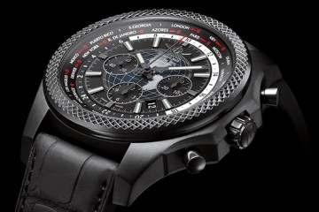 All Black Breitling for Bentley B05 Unitime Midnight Carbon watch