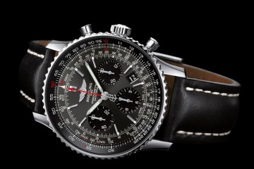 Grey and Black Breitling Navitimer 01 Replica