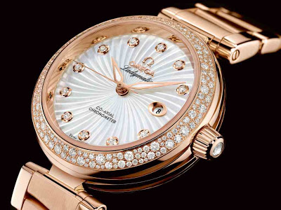 Rose Gold Omega Ladymatic Replica watch