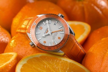 Orange Ceramic Omega Seamaster Planet Ocean replica watch