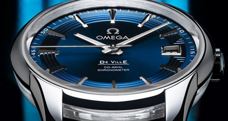 Omega De Ville Hour Vision Blue replica watch