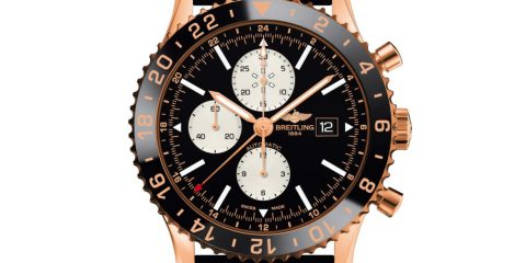 Ceramic Breitling Chronoliner Rose Gold replica