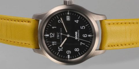 Mellow Yellow IWC Mark XII Pilot's Watch replica