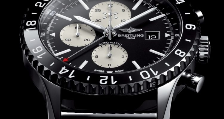 Breitling Chronoliner Black Replica