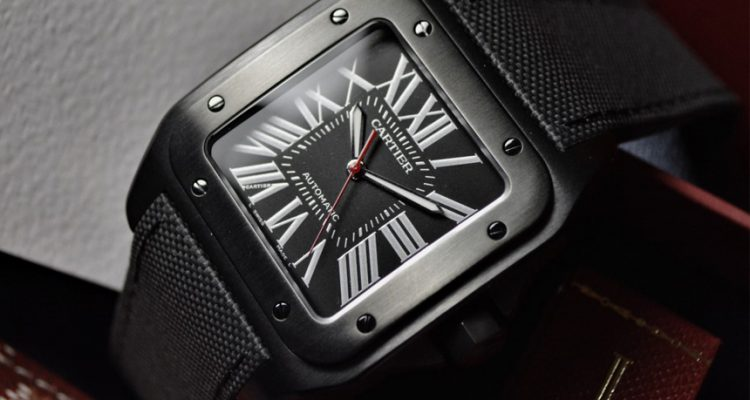 Cartier Santos 100 XL Carbon Replica