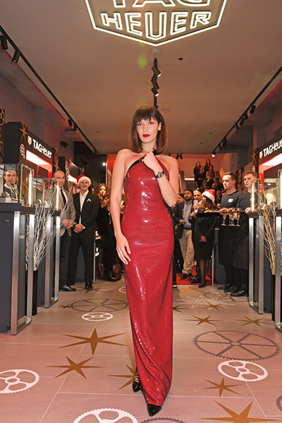 Launch of the Link Lady Bella Hadid on Oxford Street