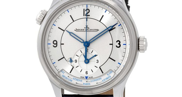 Jaeger LeCoultre Master Geographic Silver Dial Automatic Men's Alligator Leather Watch Q1428530