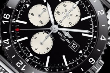 Breitling Chronoliner Blacksteel Chronograph Watch