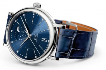Blue Dial IWC Portofino Automatic Moon Phase 37
