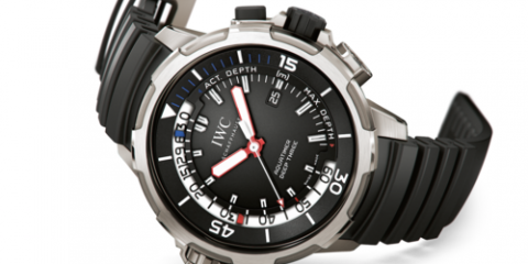 mens IWC Aquatimer Deep Three replica