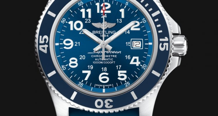 Mens Blue Dial Breitling Superocean II 44 replica