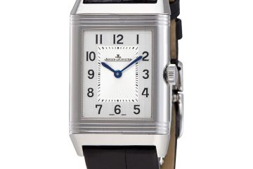 Jaeger LeCoultre Reverso Classic Medium Duetto Silver Dial Men's Leather Hand Wound Watch Q2588420